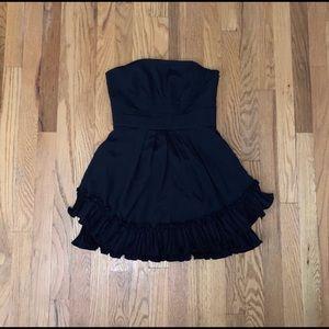 BCBG strapless black mini dress